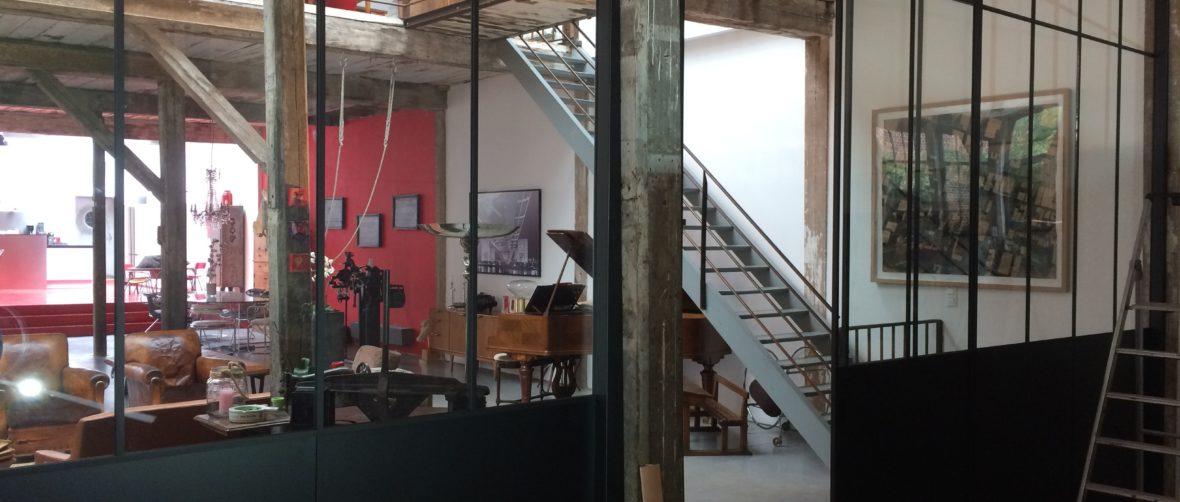 cloison d'artiste minimaliste intérieures DUTHOIT Menuiseries LILLE